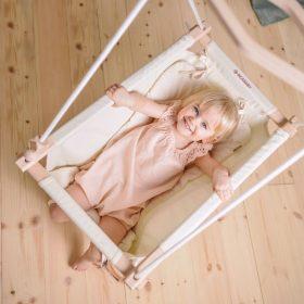 Incababy Baby Hammock with unicolor cushion